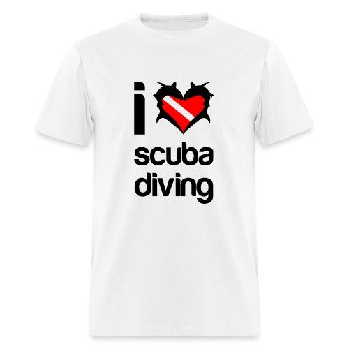 I Love Scuba Diving - Men's T-Shirt