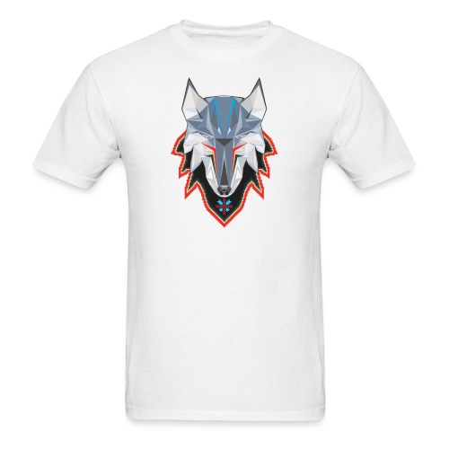 Wolf in Pixelated Clothing - Men's T-Shirt