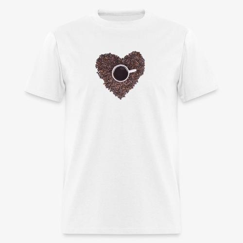 I Heart Coffee Black/White Mug - Men's T-Shirt