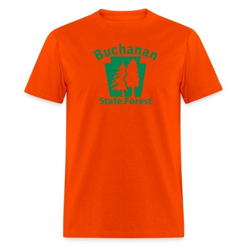 Buchanan State Forest Keystone (w/trees) - Men's T-Shirt
