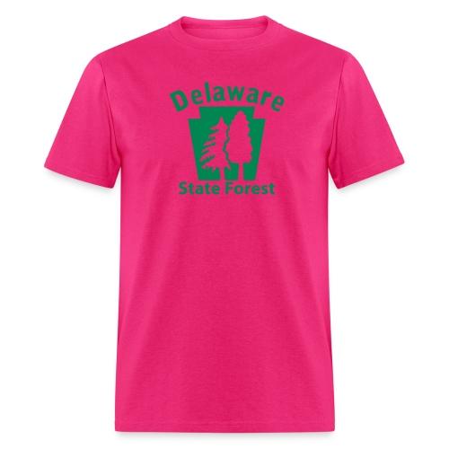 Delaware State Forest Keystone (w/trees) - Men's T-Shirt