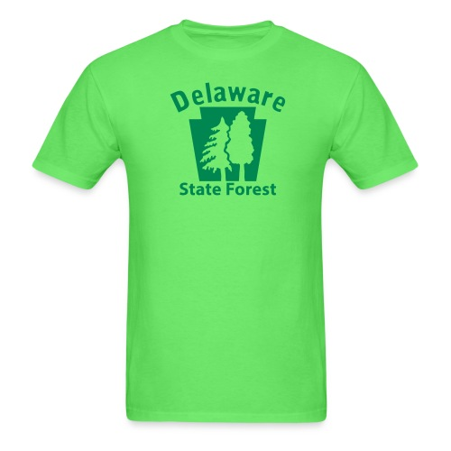 Delaware State Forest Keystone (w/trees) - Men's T-Shirt