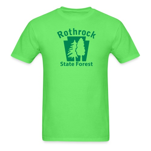 Rothrock State Forest Keystone (w/trees) - Men's T-Shirt