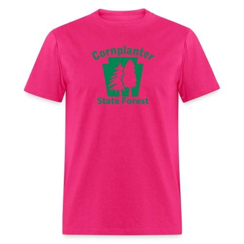 Cornplanter State Forest Keystone (w/trees) - Men's T-Shirt