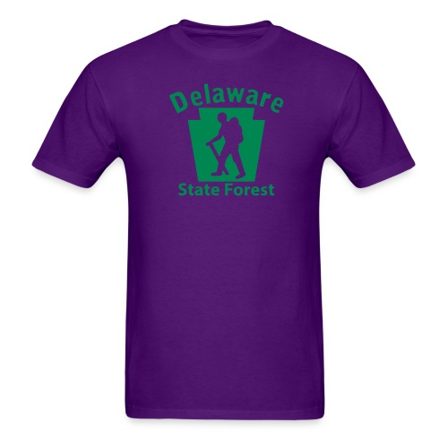 Delaware State Forest Keystone Hiker male - Men's T-Shirt