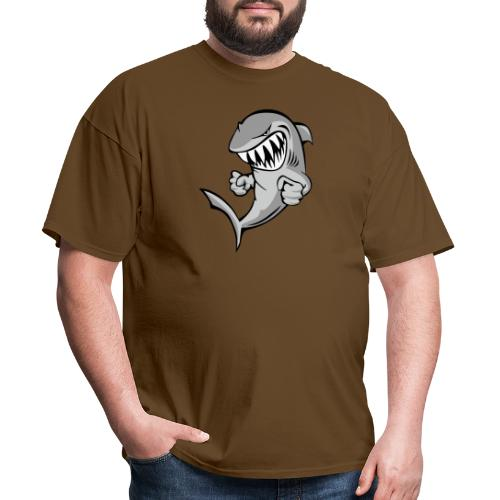 Shark With Attitude Cartoon - Men's T-Shirt
