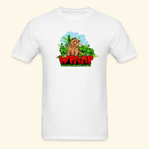 We Plants Are Happy Plants - Bear Logo - Men's T-Shirt