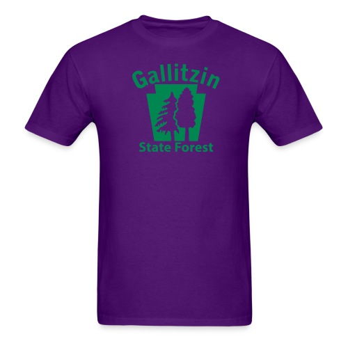 Gallitzin State Forest Keystone (w/trees) - Men's T-Shirt