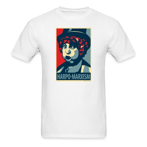 Harpo Marxism: parody of Obama poster - Men's T-Shirt