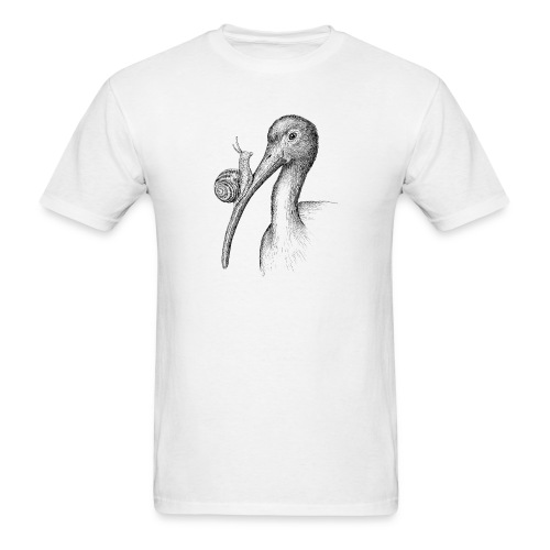 Ibis with Snail by Imoya Design - Men's T-Shirt