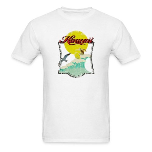 Vintage Hawaiian Surfer - Men's T-Shirt