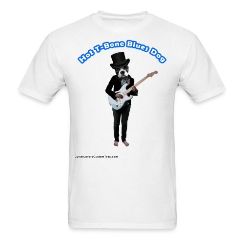 BluesDog by GuitarLoversCustomTees png - Men's T-Shirt