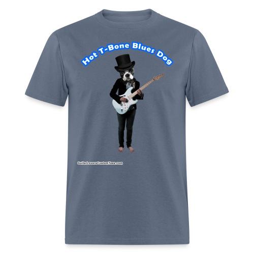 BluesDog by GuitarLoversCustomTees png - Men's T-Shirt