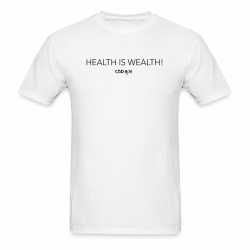 health is wealth skinny - Men's T-Shirt