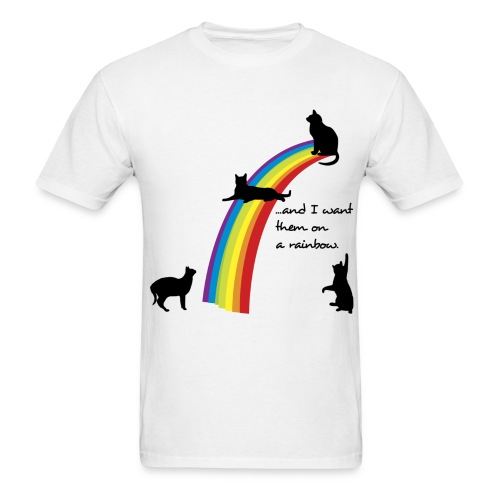 rainbow cats - Men's T-Shirt