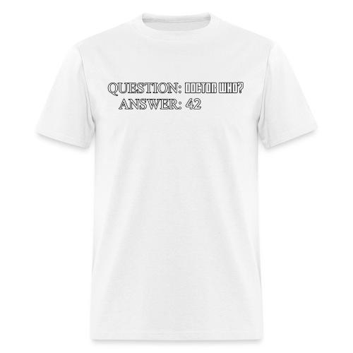 questiondoctorwho - Men's T-Shirt