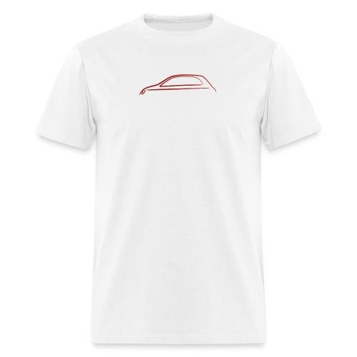 FIAT 500 Outline Red - Men's T-Shirt