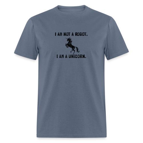 unicorn tall black - Men's T-Shirt