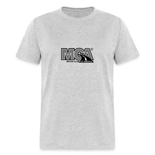 MCA Logo WBG Transparent BLACK WHITE TITLEfw fw pn - Men's T-Shirt