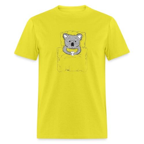 Print With Koala Lying In A Bed - Men's T-Shirt