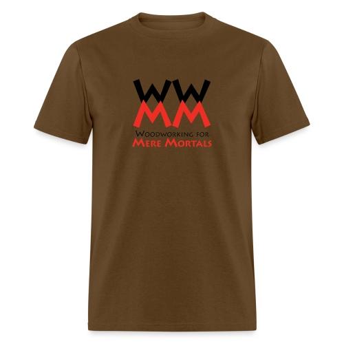Woodworking for Mere Mortals logo - Men's T-Shirt