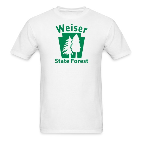 Weiser State Forest Keystone (w/trees) - Men's T-Shirt