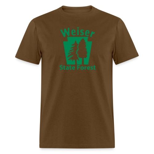 Weiser State Forest Keystone (w/trees) - Men's T-Shirt