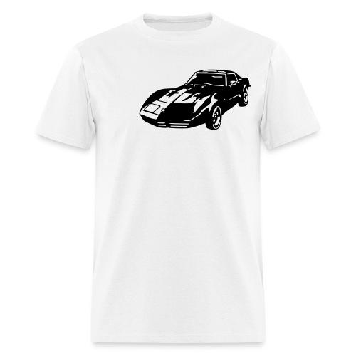 auto_80s_chevrolet_corvette_1c - Men's T-Shirt