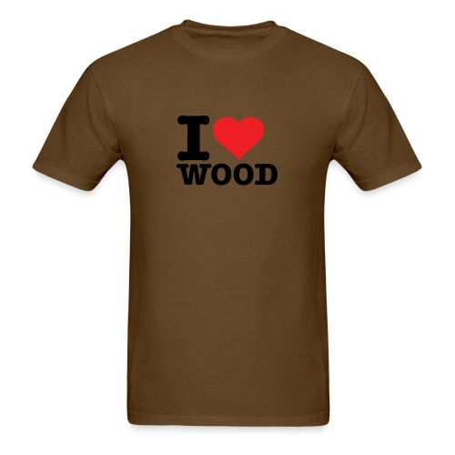 I heart wood - Men's T-Shirt