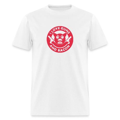 I Love Guns And Bacon - Men's T-Shirt