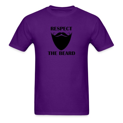 Respect the beard 07 - Men's T-Shirt