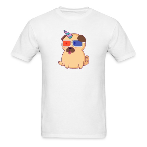 Dog with 3D glasses doing Vision Therapy! - Men's T-Shirt
