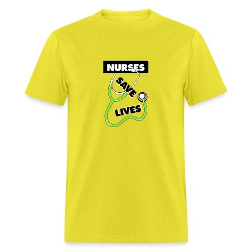 Nurses save lives green - Men's T-Shirt