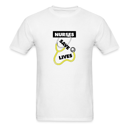 Nurses save lives yellow - Men's T-Shirt