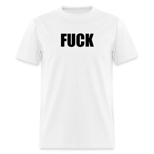 fuck (black) - Men's T-Shirt
