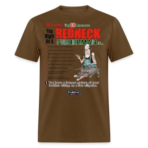 redneck fisherman - Men's T-Shirt