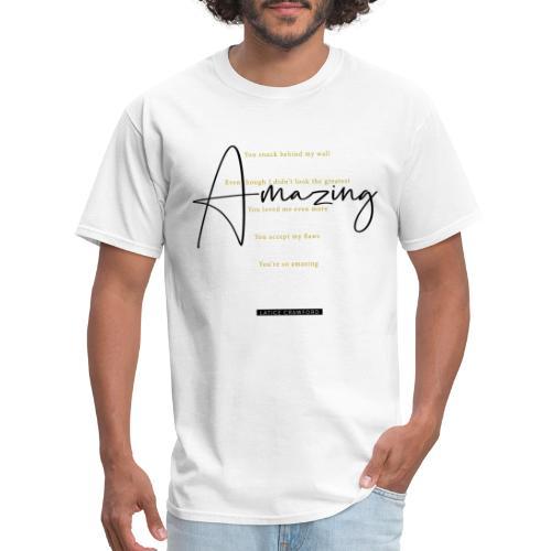 Amazing - Black Text - Men's T-Shirt