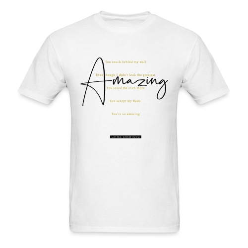 AMAZING (Black Text) - Men's T-Shirt