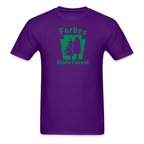 Forbes State Forest Keystone (w/trees) - Men's T-Shirt