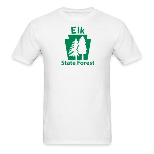 Elk State Forest Keystone (w/trees) - Men's T-Shirt