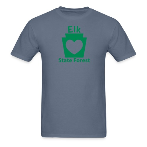 Elk State Forest Keystone Heart - Men's T-Shirt