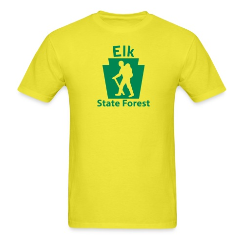 Elk State Forest Keystone Hiker male - Men's T-Shirt