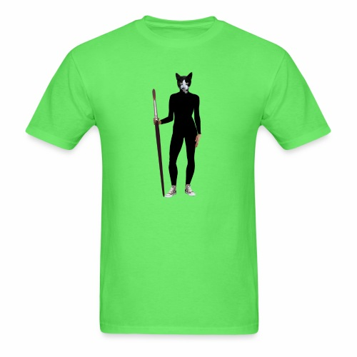 Cat Artist - Men's T-Shirt