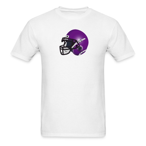 purple footbal lhelmet - Men's T-Shirt
