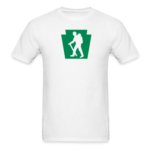 PA Keystone w/Male Hiker - Men's T-Shirt