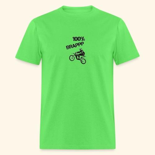 100% BRAPPP (Black and White) - Men's T-Shirt