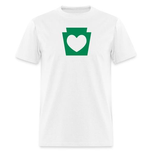 Love/Heart PA Keystone - Men's T-Shirt
