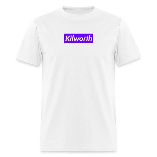 Purple Box Logo - Men's T-Shirt