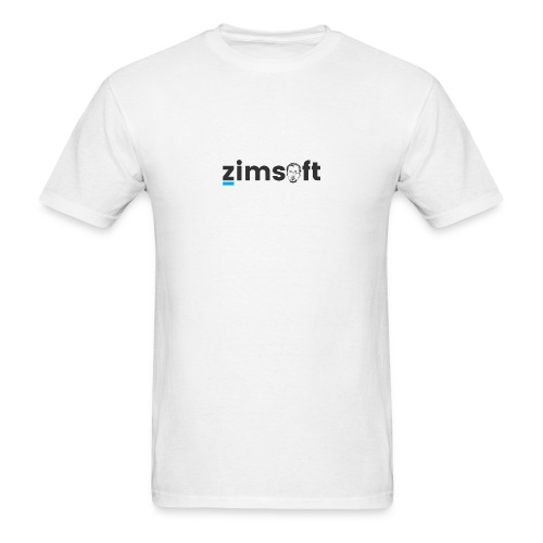 zimsoft dark cropped - Men's T-Shirt