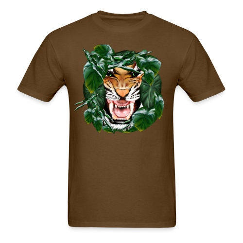 Tiger thru the leaves - Men's T-Shirt